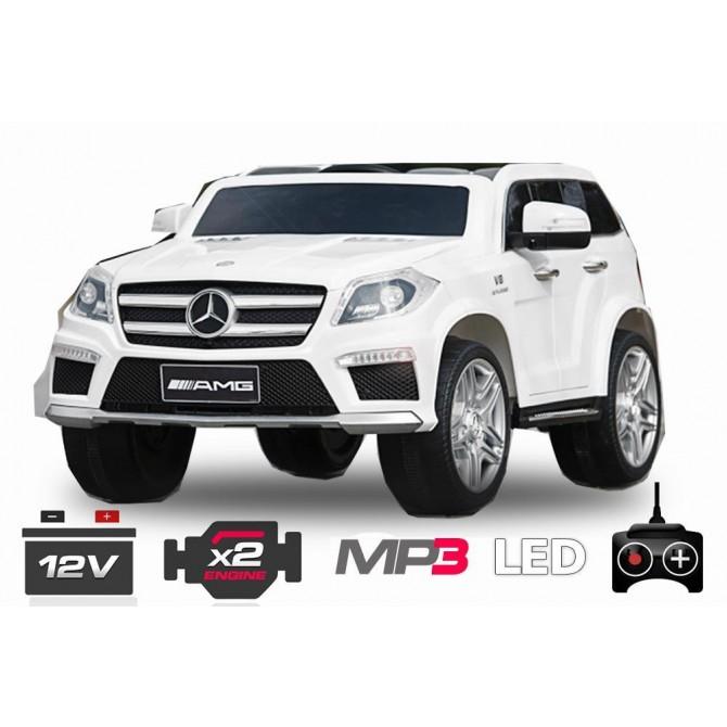 Elektro avto MERCEDES GL AMG / RC voden / za dva otroka / LED luči / MP3
