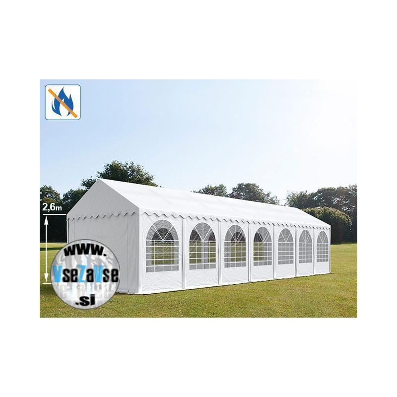 4 x 14m XXL Party šotor PVC / negorljivo