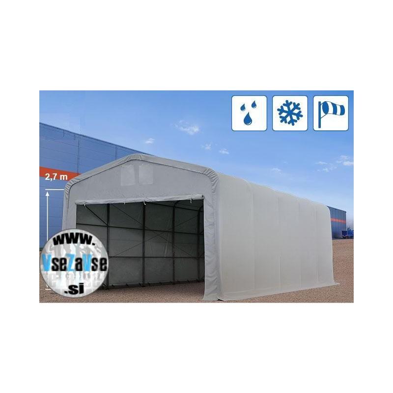XL skladiščni - garažni šotor PVC / širina 5m / višina 2.6m / dolžina od 10m do 30m