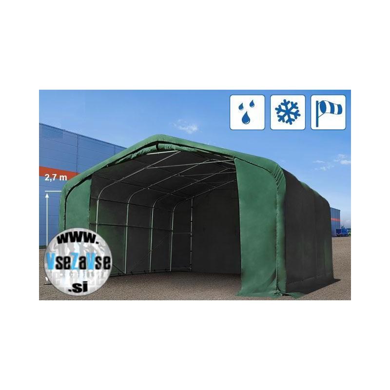 XL garažni skladiščni šotor PVC 550g/m2 / širina 6m / dolžina 6x (6,12,24,36)m