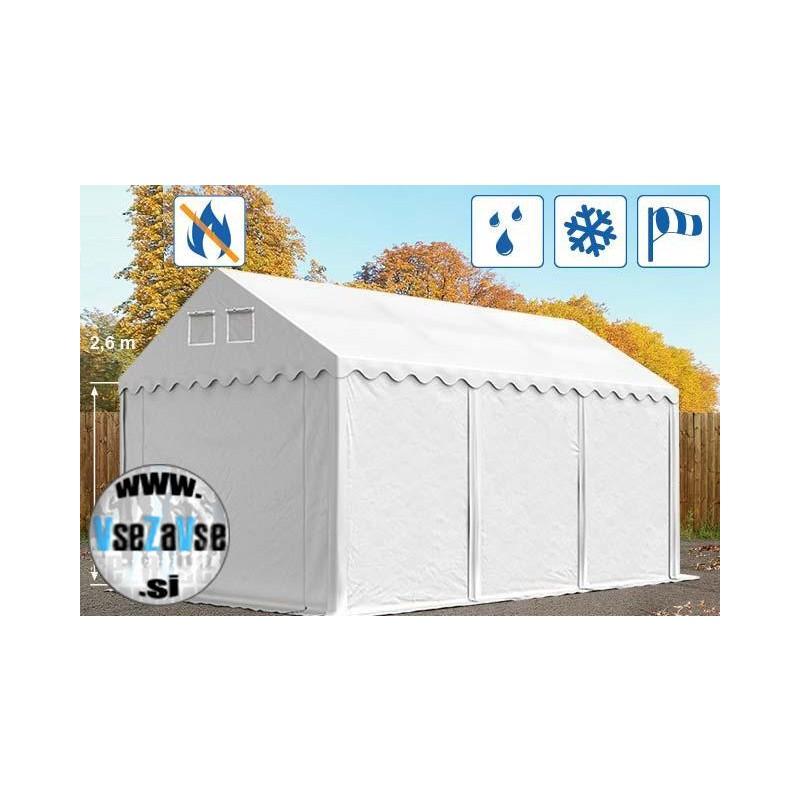 XL skladiščni šotori PVC / negorljivo / širina 4m / višina 2.6m / dolžina od 6m do 20m