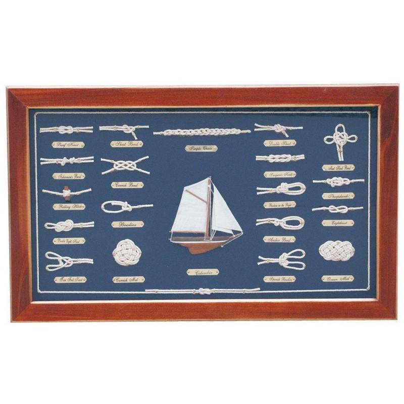 Zastekljena slika z morskimi vozli