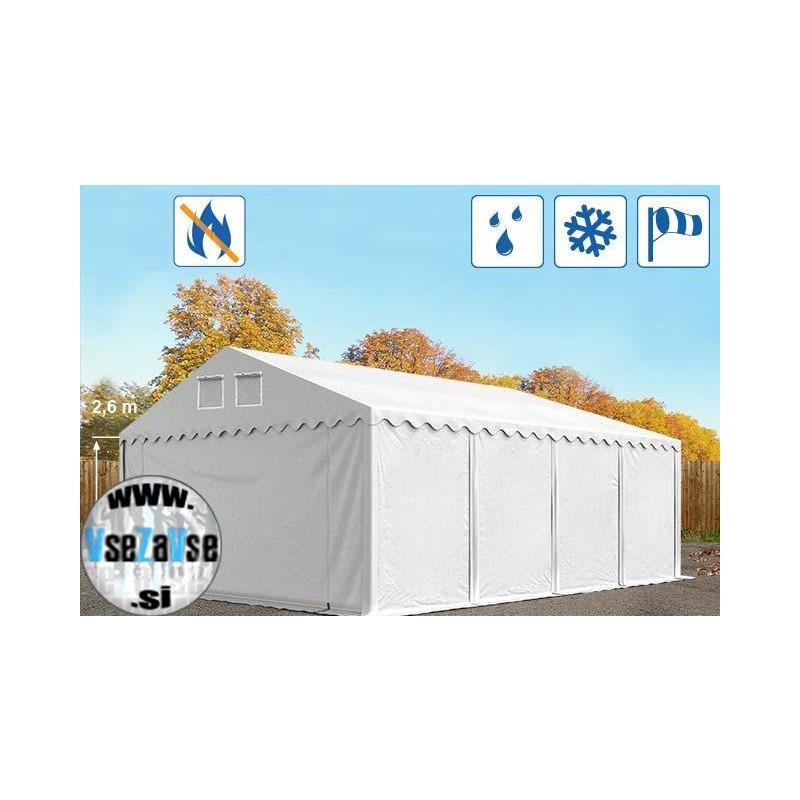 XL skladiščni šotori PVC / negorljivo / širina 5m / višina 2.6m / dolžina od 8m do 30m