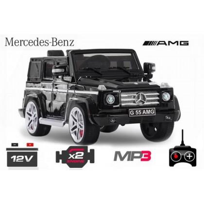 Elektro avto MERCEDES G AMG / RC voden / za dva otroka / LED luči / MP3