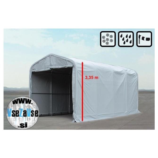 XL skladiščni šotori PVC / širina 4m / dolžina od 4m do 24m