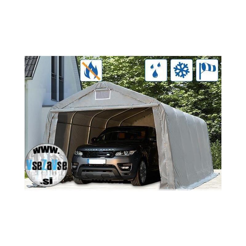 Garažni šotor PVC / negorljivo / širina 3.6m / višina 2.10m / dolžina od 4.8m do 9.6m