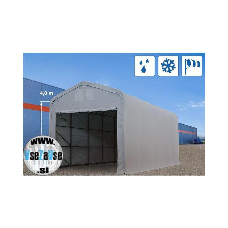 XXL skladiščni - garažni šotor PVC / širina 5m / višina 4m / dolžina od 10m do 30m