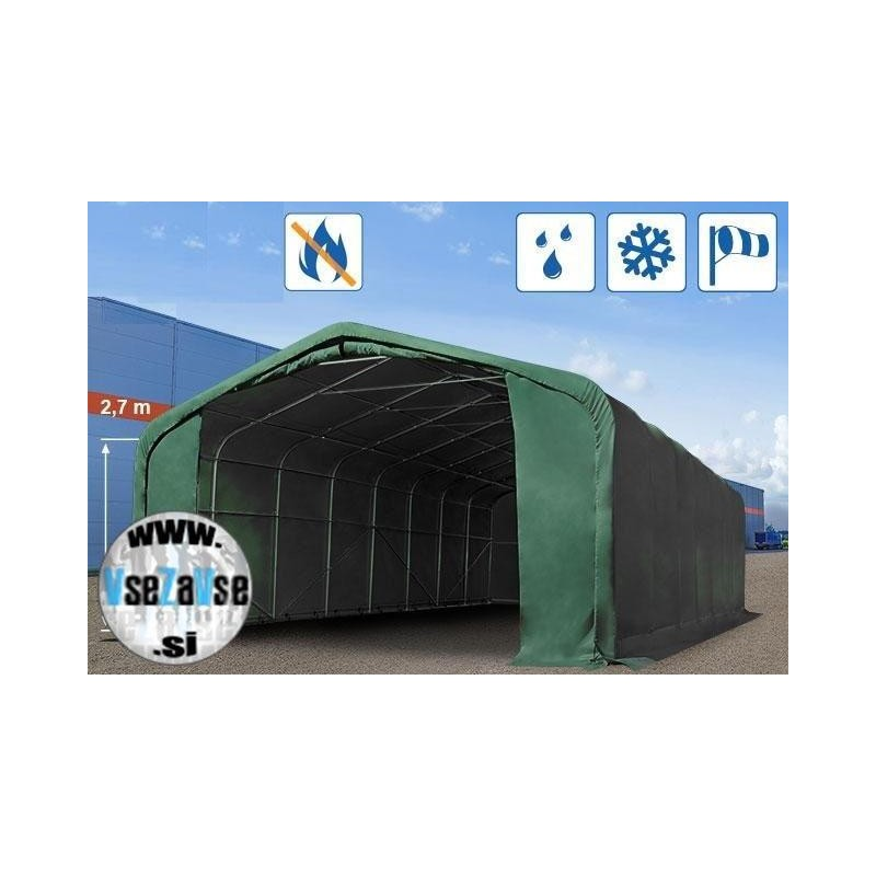 Garažni šotor PVC 720g/m2 / negorljivo / 6x (12,18,24,34)m / višina 3.6m,