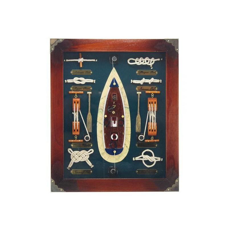 Zastekljena slika z mornarskimi vozli