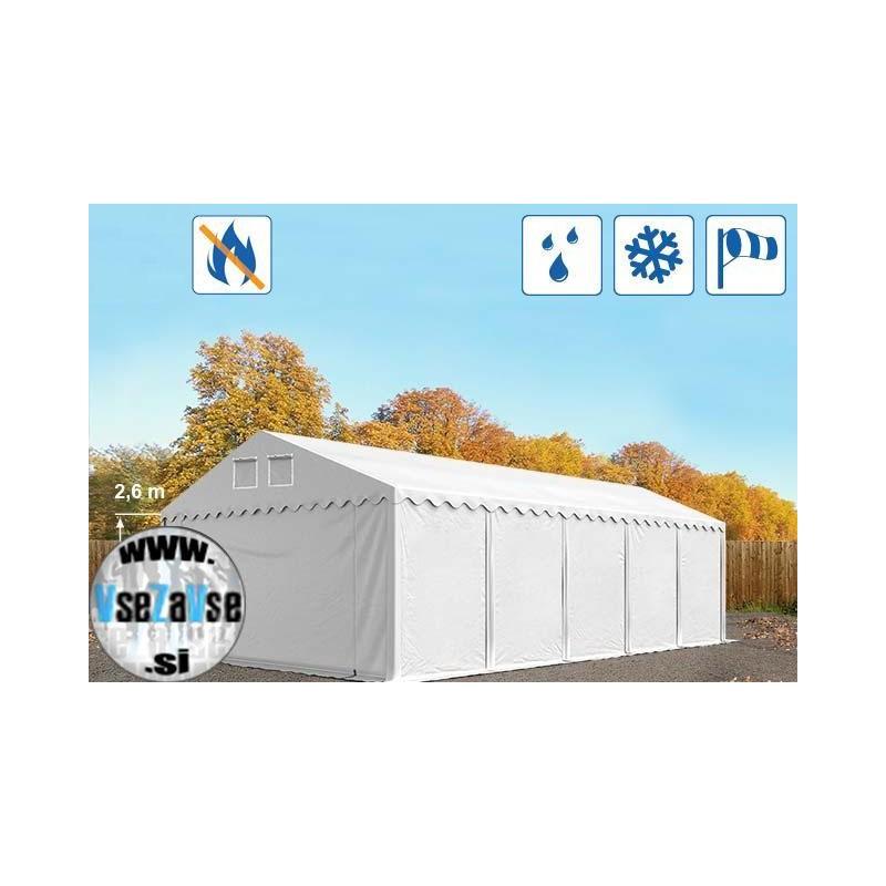 XL skladiščni šotori PVC / negorljivo / širina 6m / višina 2.6m / dolžina od 6m do 24m