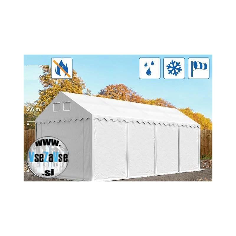 XL skladiščni šotori PVC / negorljivo / širina 3m / višina 2.6m / dolžina od 8m do 20m