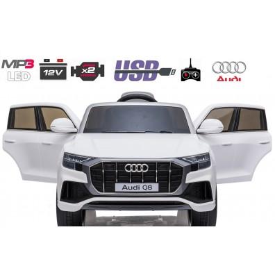 AUDI Q8 SUV 12V / metalik / radijski sprejemnik / LED